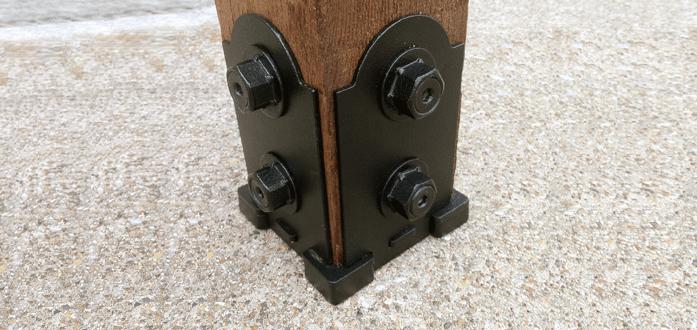 Porch post metal base