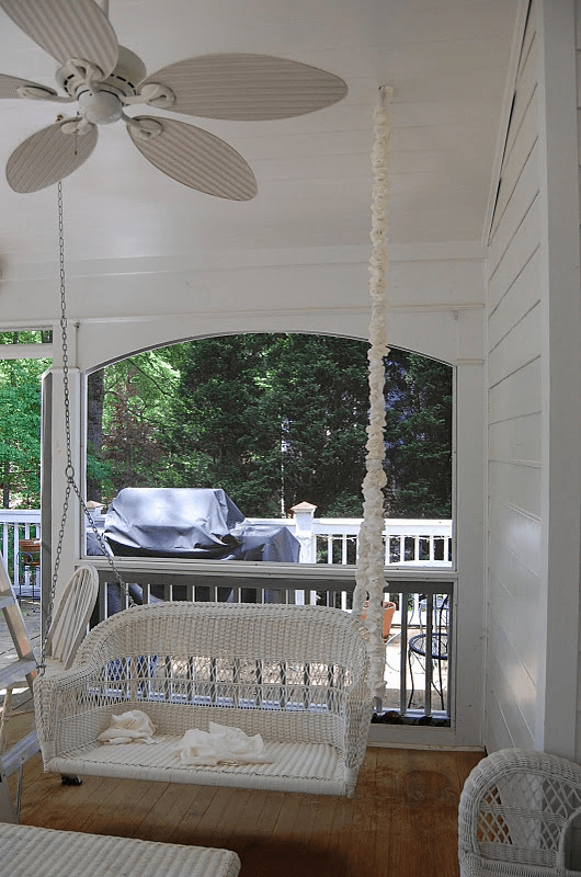 Porch swing chain covers