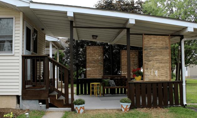 Privacy screen patio enclosures