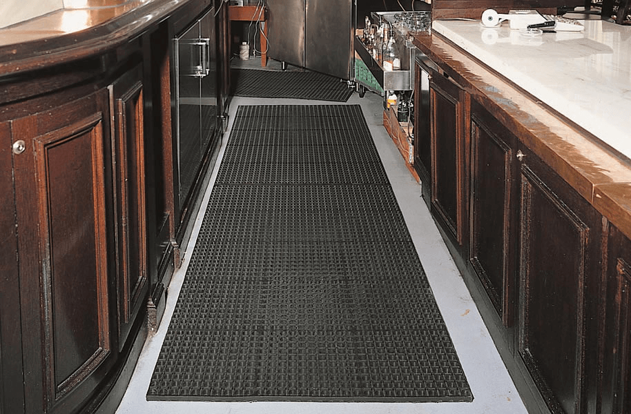 Rubber floor mats for kitchen