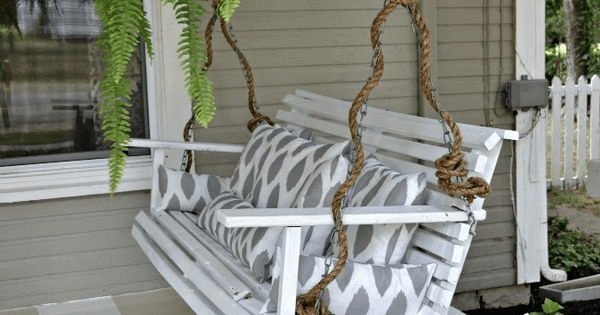 Rustic Porch Swing Chain Covers Ideas