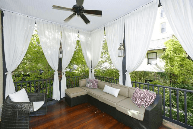 Screen Porch Weather fabric Curtains