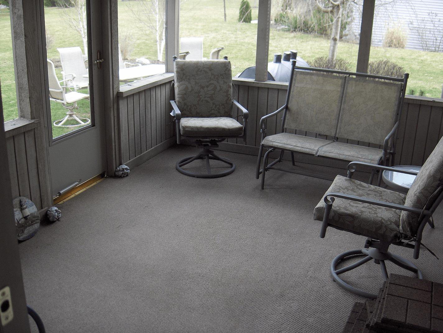 Screened In Porch Flooring Carpet