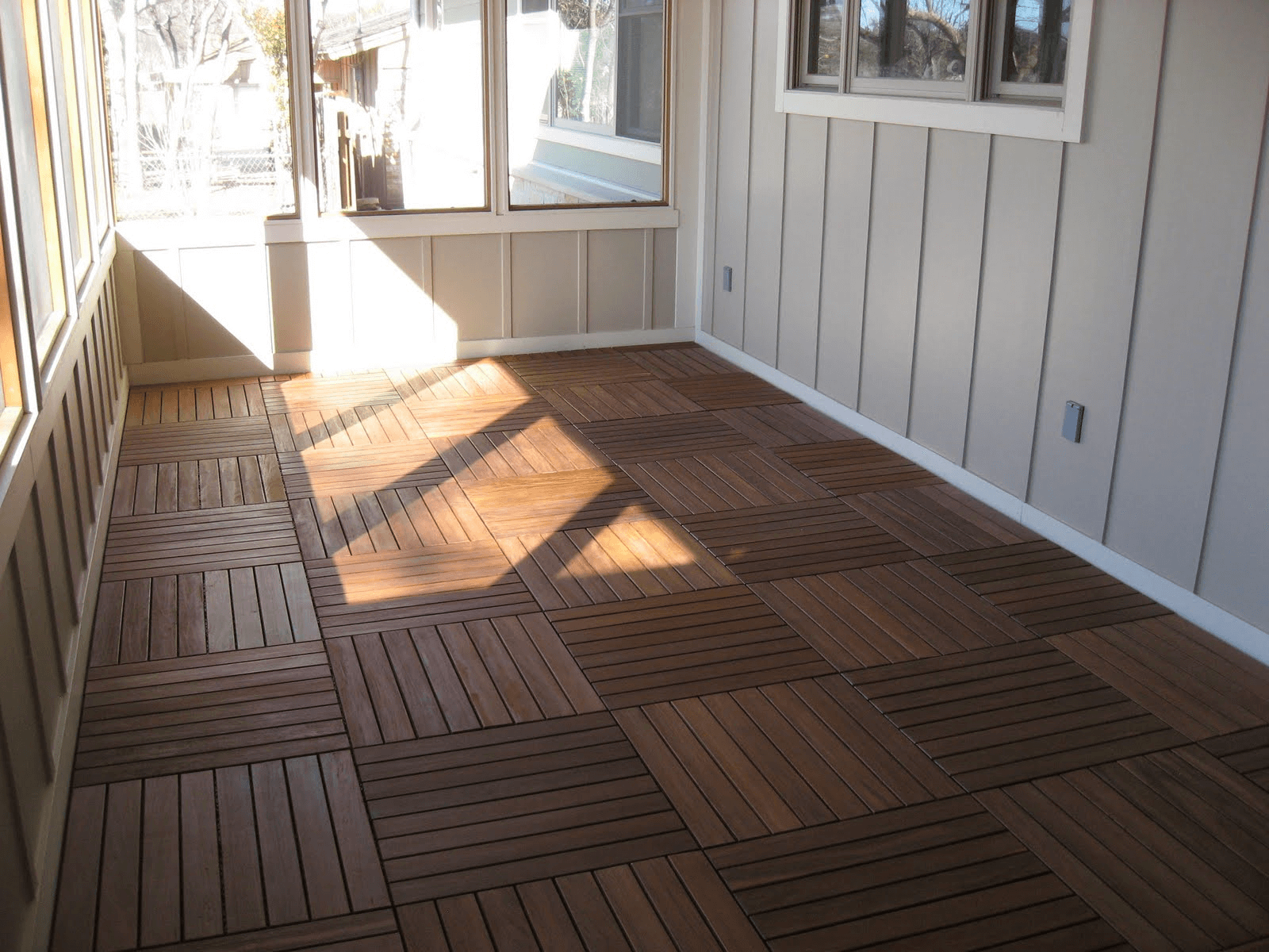 Screened In Porch Flooring Wooden Tiles
