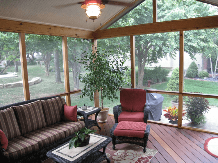 Screened In Porch Flooring wooden