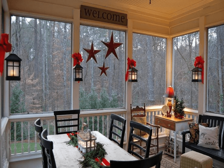 Simple and cheap screened in porch decorating ideas Screened in porch decor