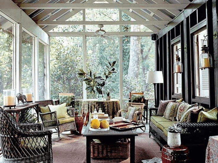 Simple And Cheap Screened In Porch Decorating Ideas