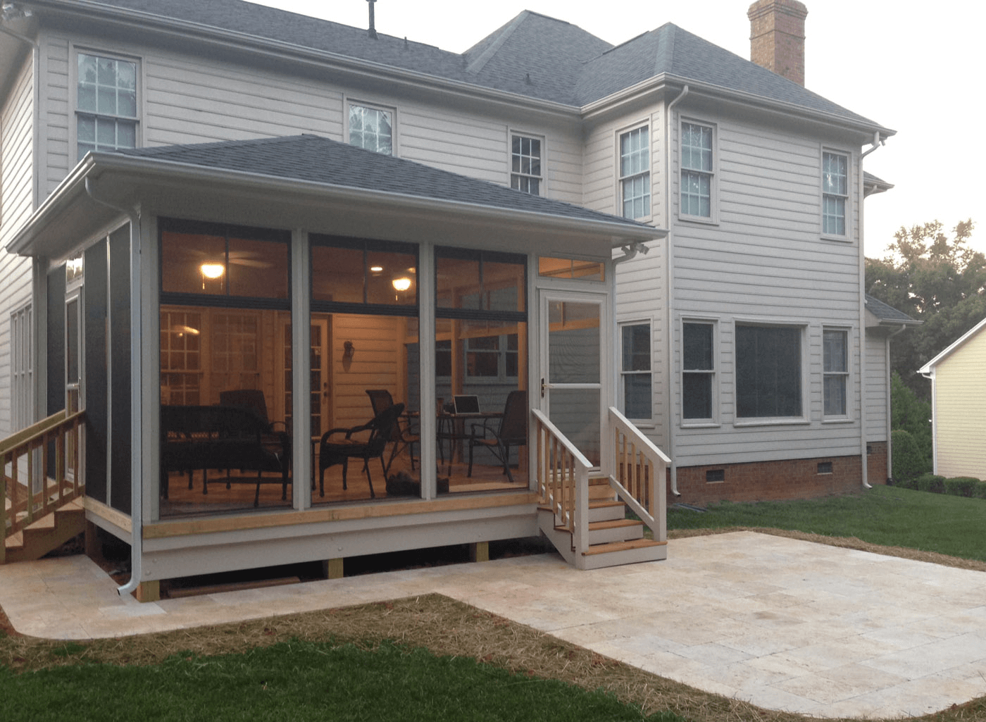 Screened in porches images for lighting and design ideas