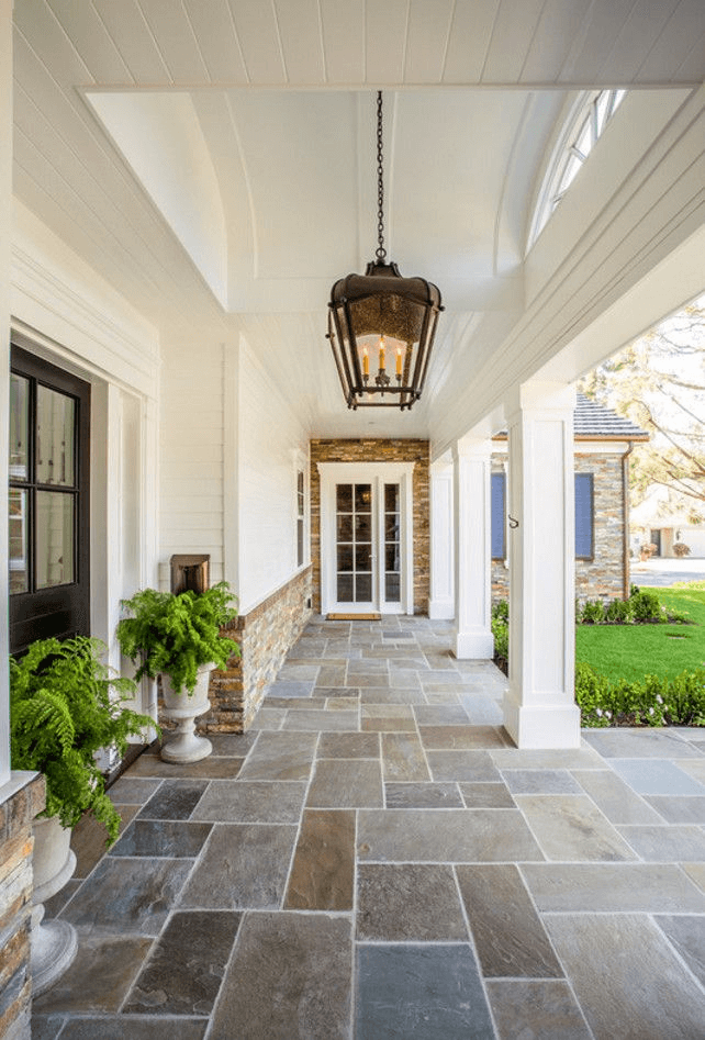 Stone porch flooring materials