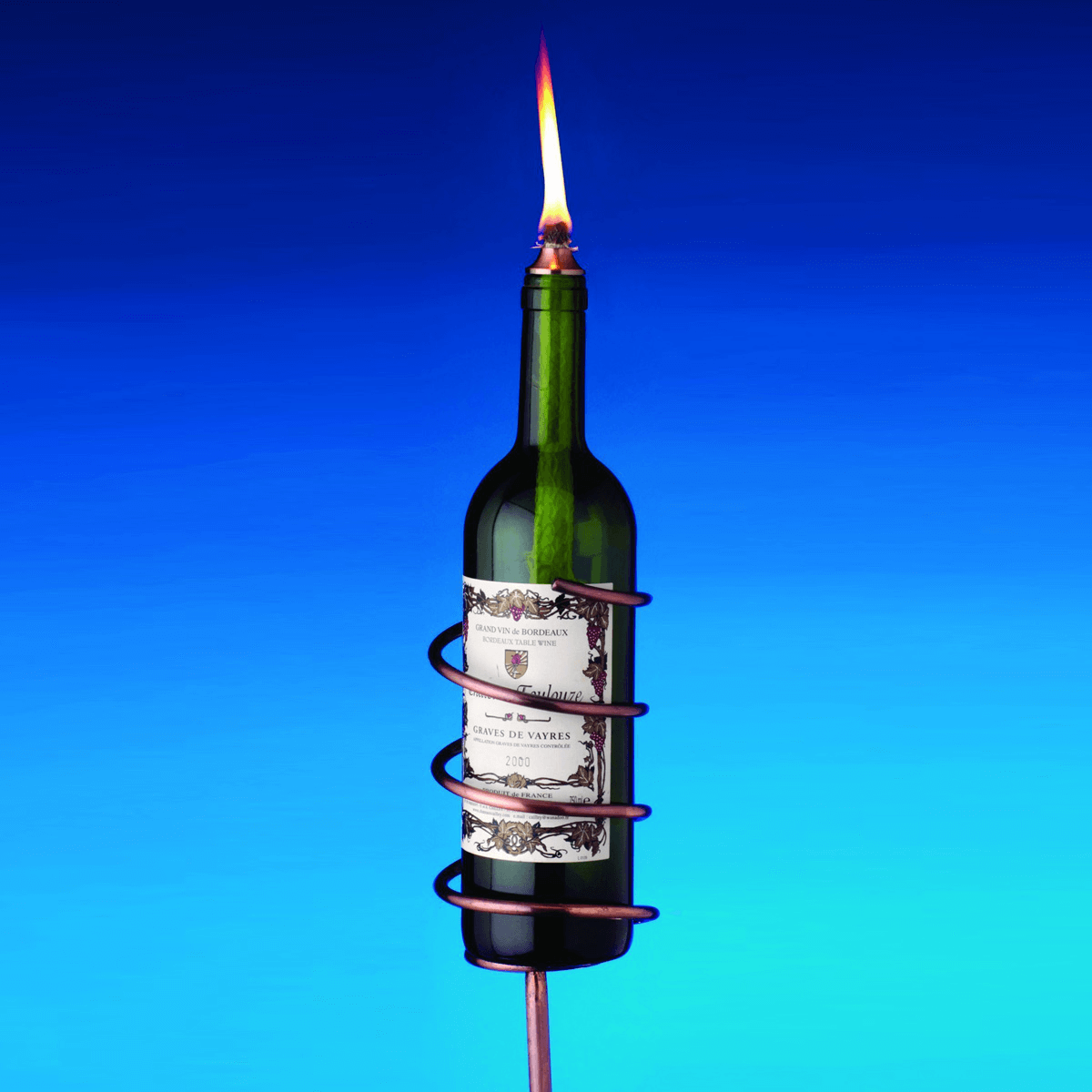 Torch from Wine Bottle