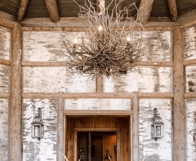 Unique plug in rustic chandelier