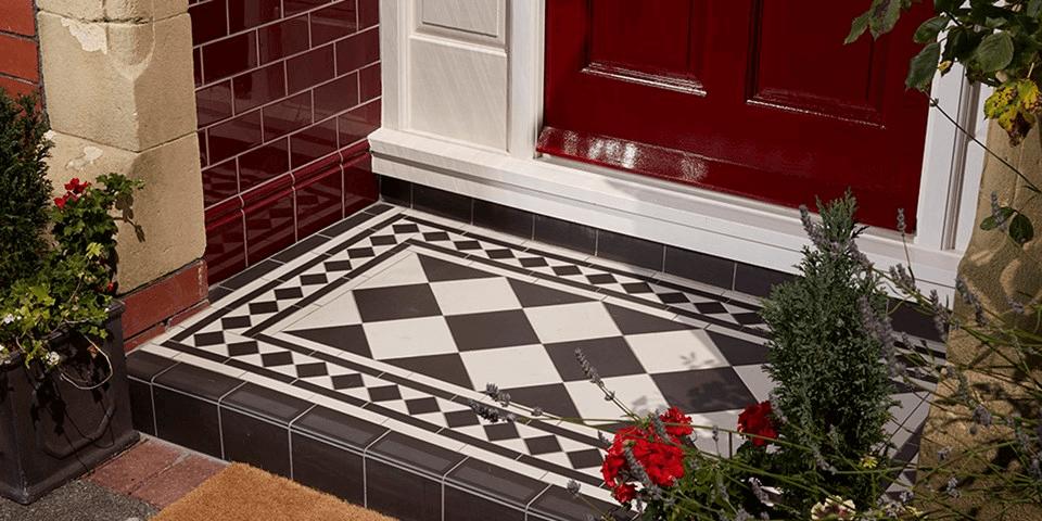 Victorian small porch tile flooring ideas