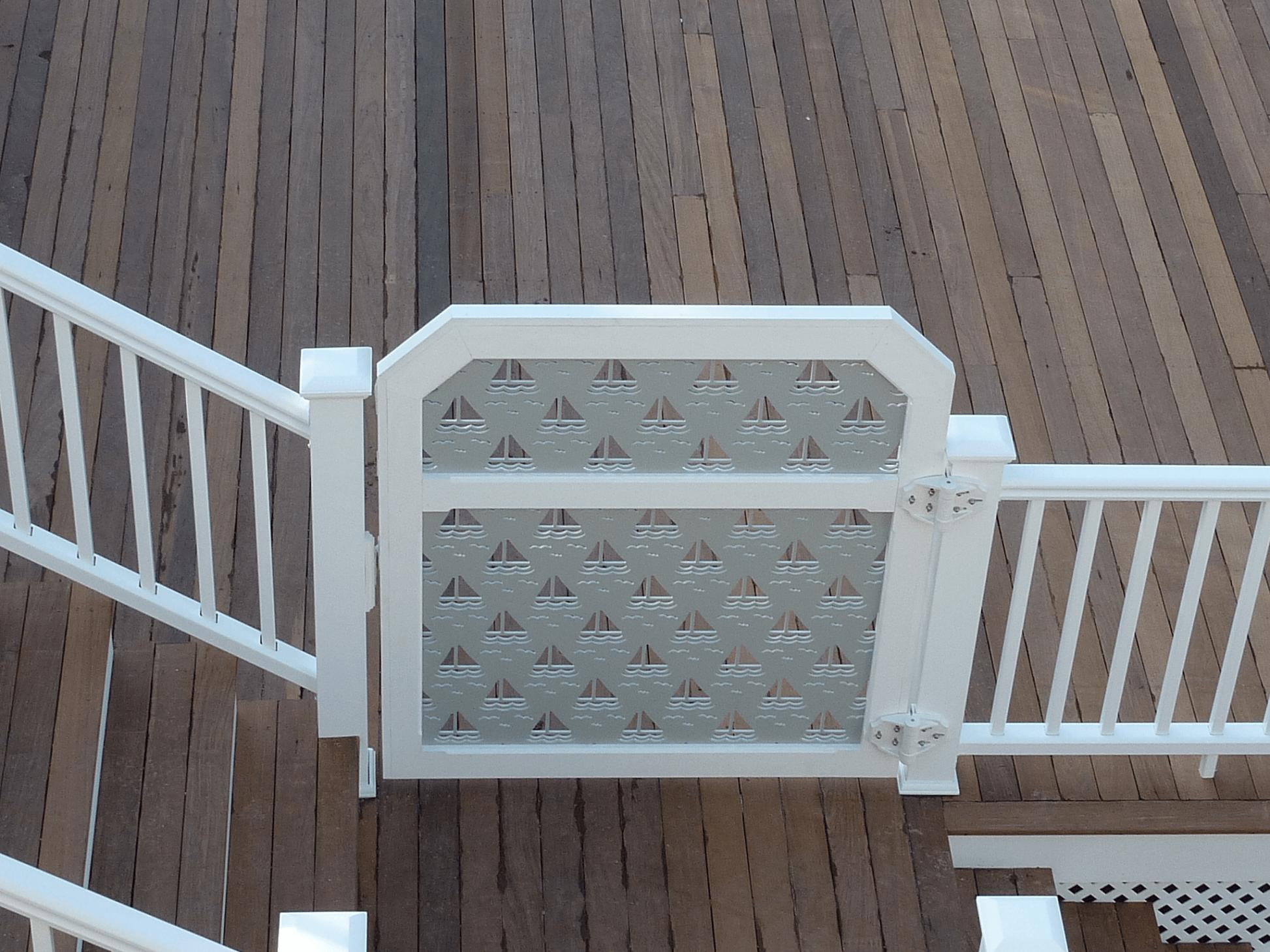 Vinyl porch gate