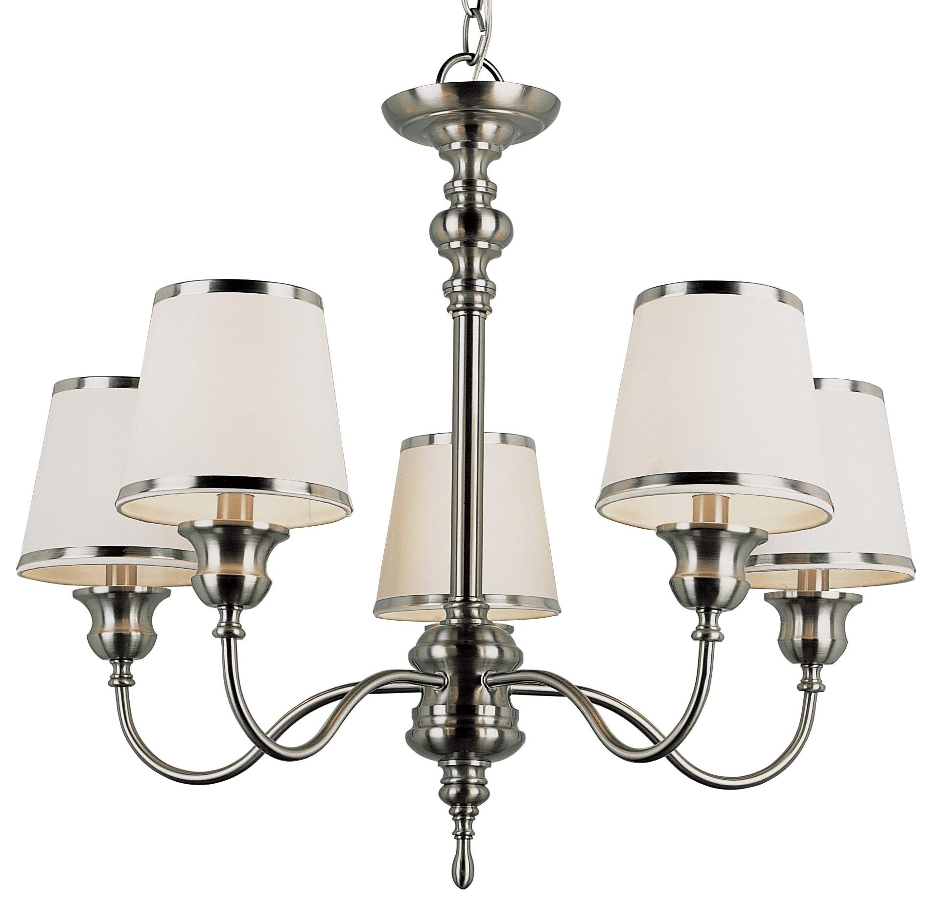White plug in chandelier