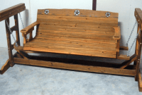 Wooden Porch Swing Glider Frame