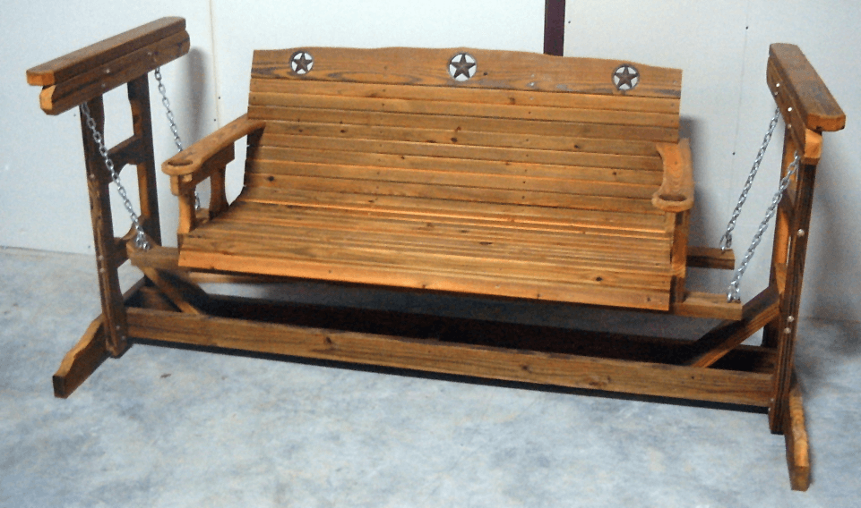 How to build small wooden porch swing glider frame for Log swing plans