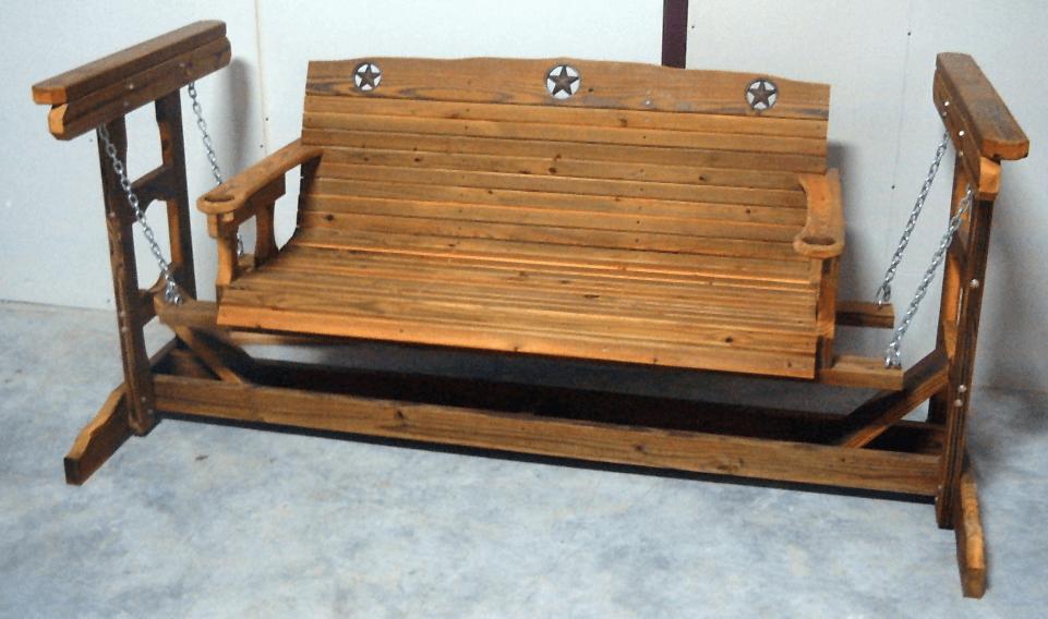 Wooden Porch Swing Glider Frame