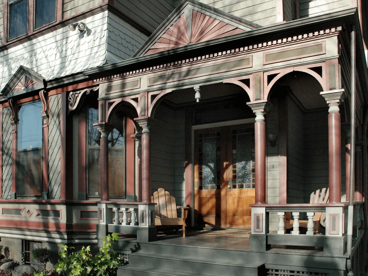 Wooden Victorian Style Front Porch Column Brackets