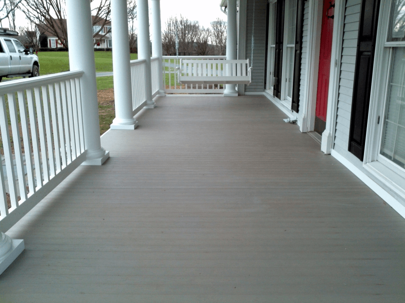 Wooden porch flooring tongue and groove