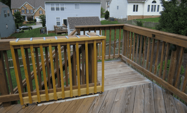 Wooden porch gate