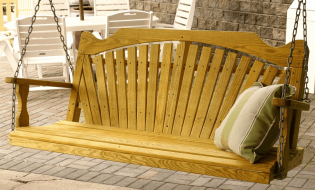 Wooden porch swing frame kit