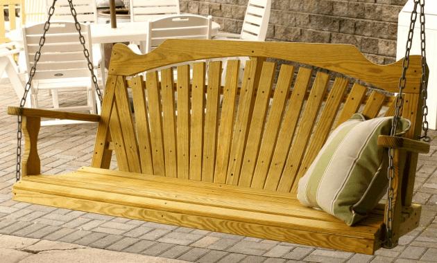 Wooden porch swing frame kit