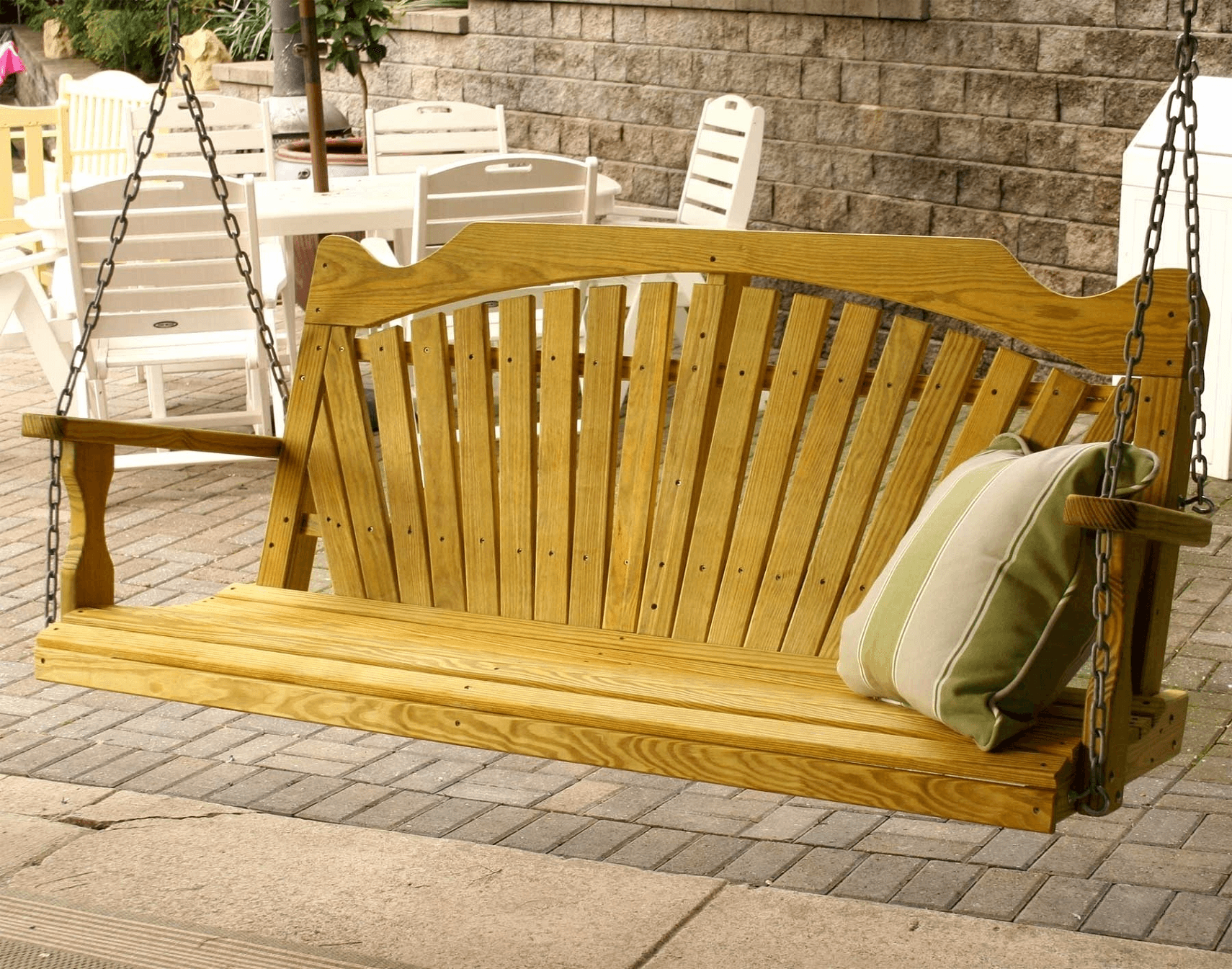 living bench with wooden patio belham stand sets maumee porch picture swings in swing furniture set inspirations ohio supreme frightening back lounge richmond top straight outdoor