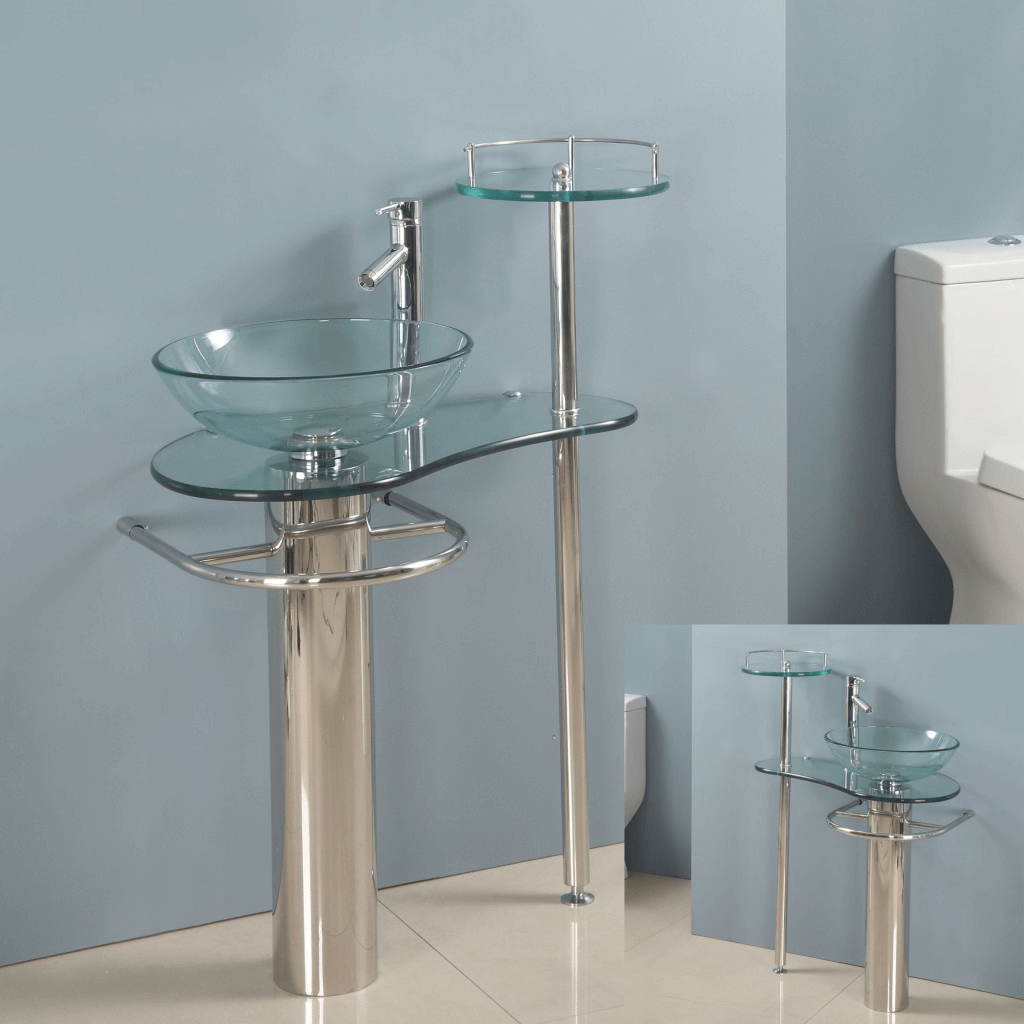 Bathroom Vanity With Glass Top
