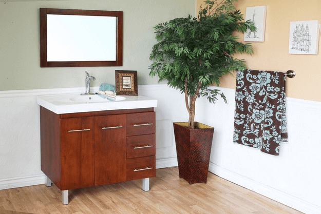 Bathroom Vanity with Sink on the Right Side