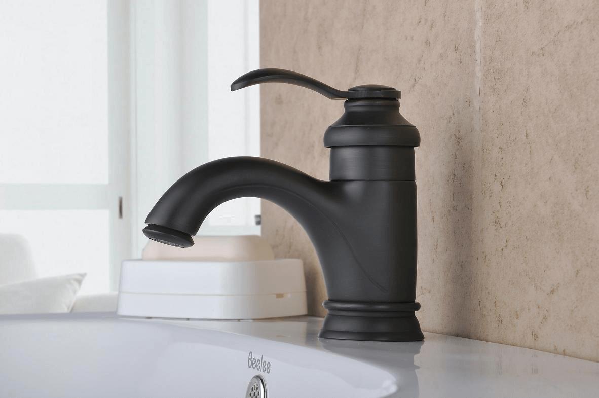 Bathroom faucets bronze single handle