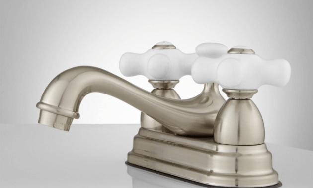 Bathroom faucets porcelain knobs
