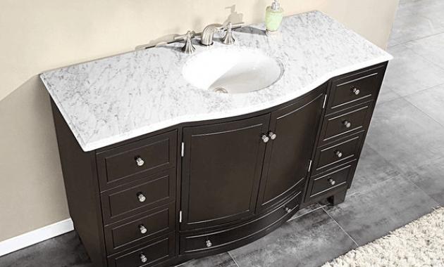 Bathroom vanities with white granite tops
