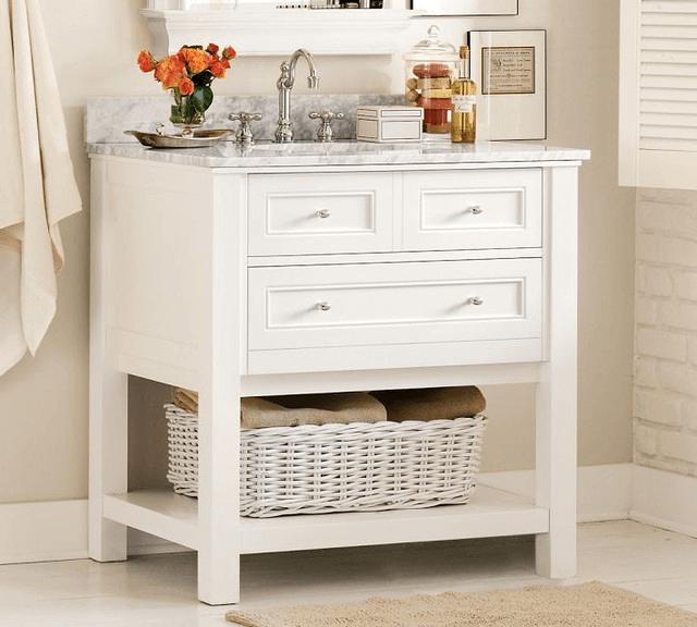 Bathroom vanity cabinet white