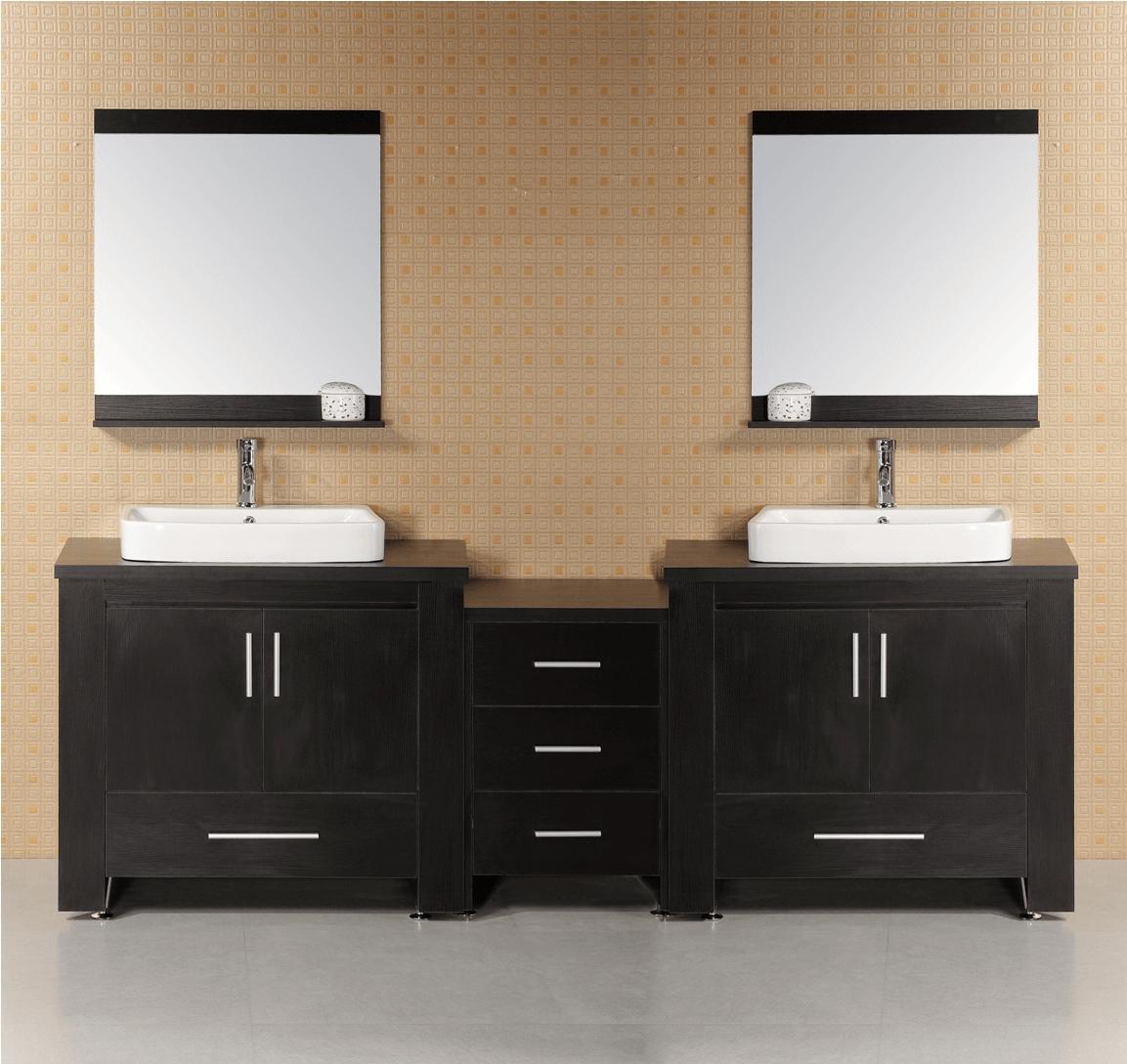 Bathroom vanity cabinet with double sinks