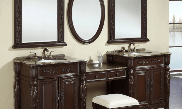 Bathroom vanity cabinet with mirror