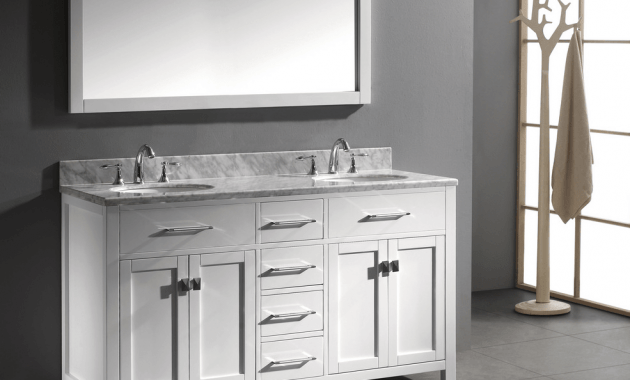 Bathroom vanity cabinets 60 with double sink