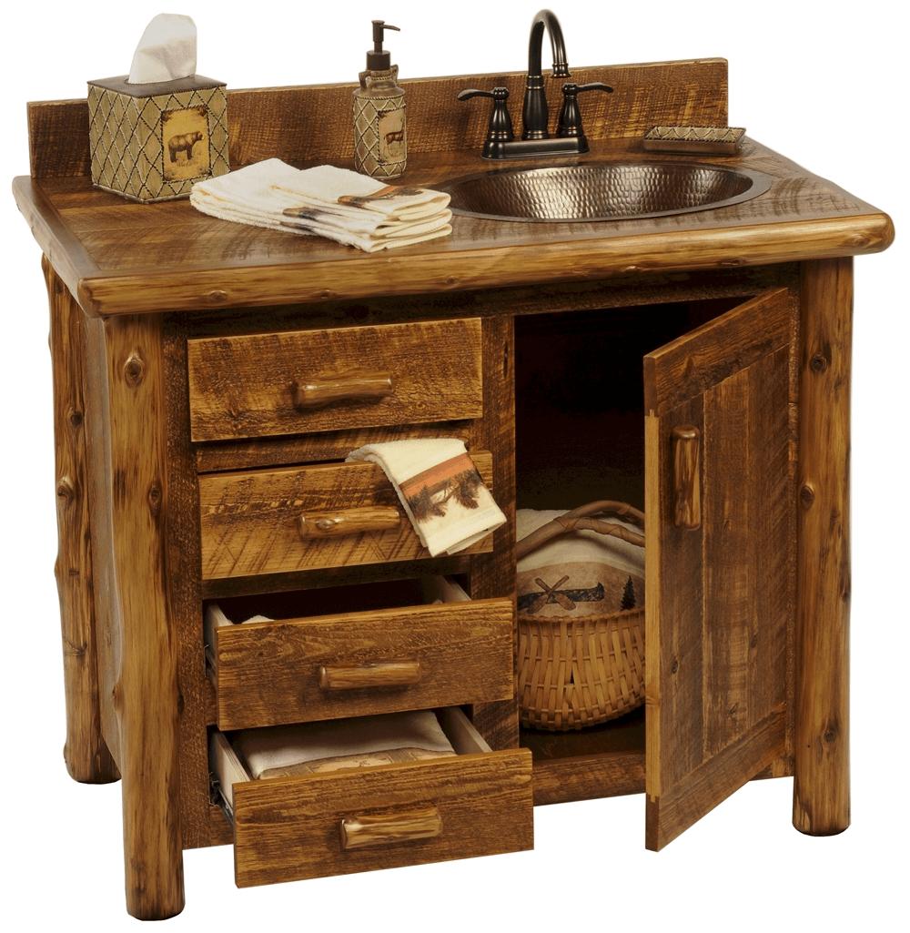 Bathroom vanity cabinets rustic