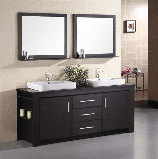 Bathroom vanity cabinets with sink