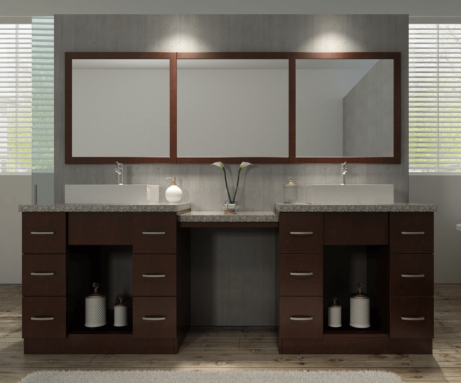 Bathroom vanity sets with mirror