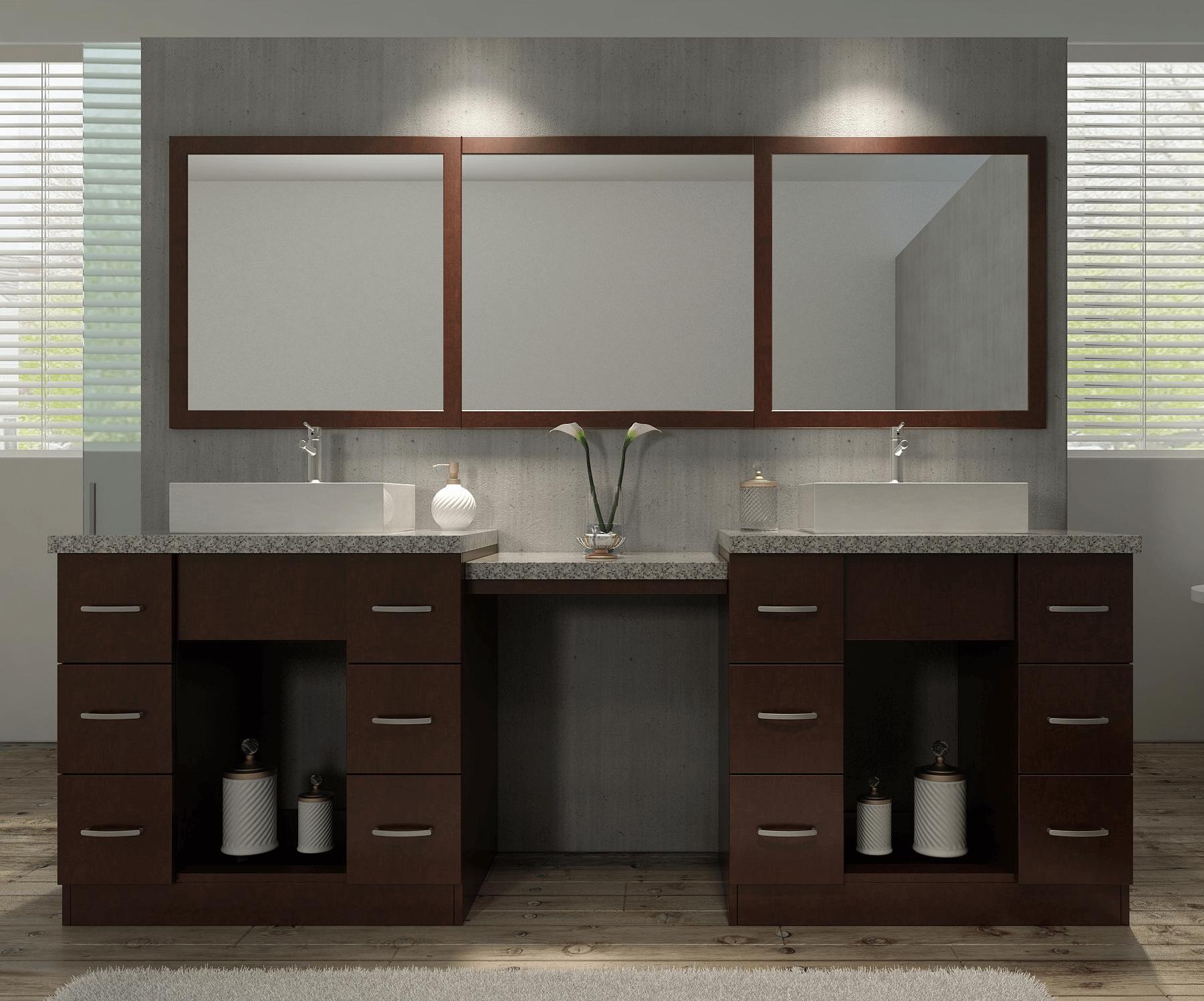 Bathroom vanity sets with mirror