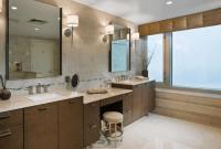 Bathroom vanity table and chair