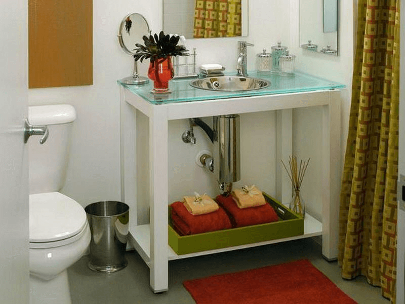 Bathroom vanity tray sets
