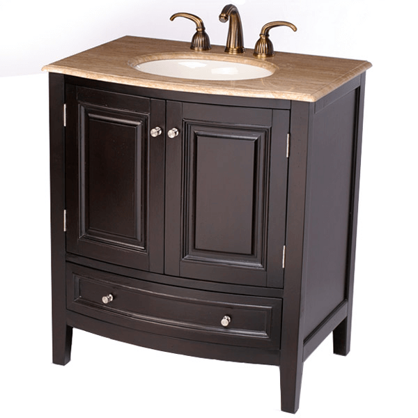 Black bathroom cabinets with sink single suitable for small space