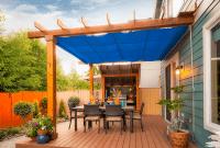 Blue Color Retractable Porch Shades