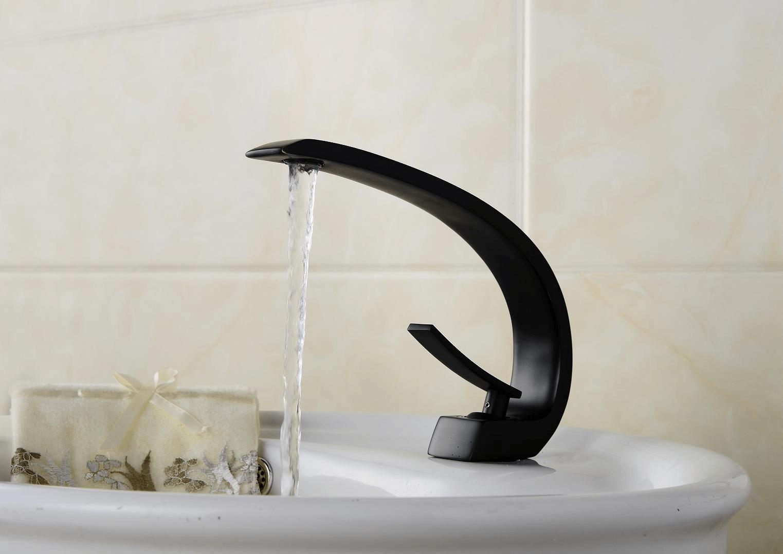 Contemporary bronze bathroom faucets