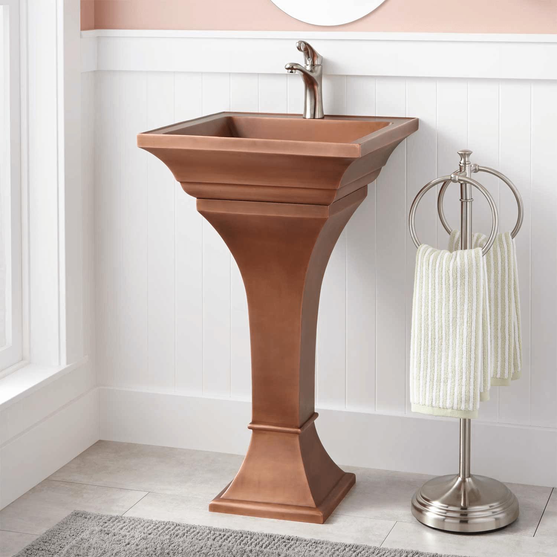 Cooper pedestal vanity sink