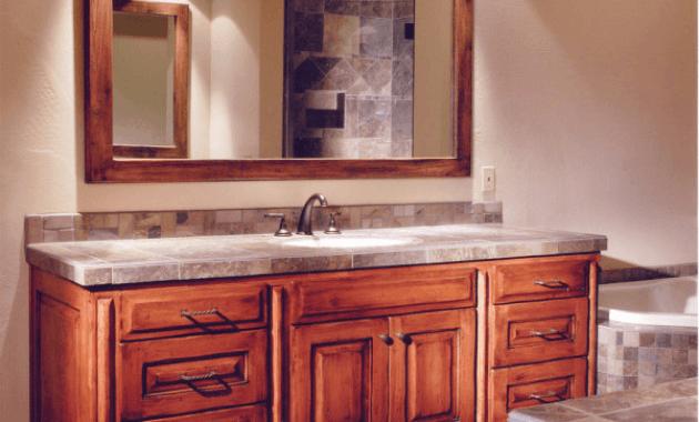 Design idea for custom bathroom vanities without tops