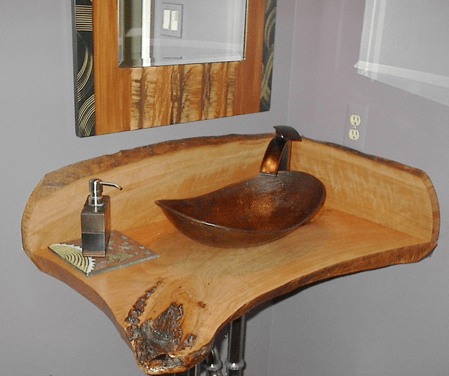 Eclectic vintage antique bathroom vanity sink