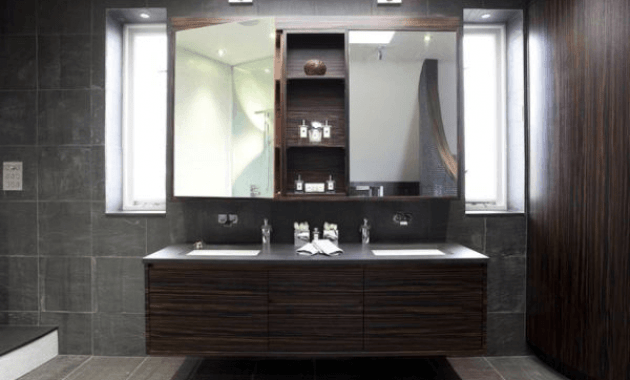 Floating bathroom vanity cabinet