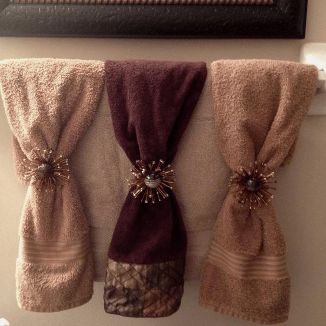 Fold Decorative Bathroom Towels